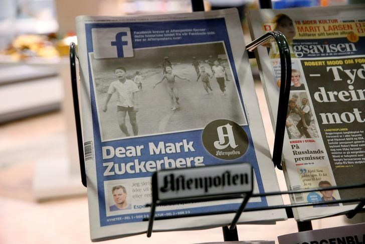 The front cover of Norway's largest newspaper by circulation, Aftenposten, is seen at a news stand in Oslo, Norway September 9, 2016.